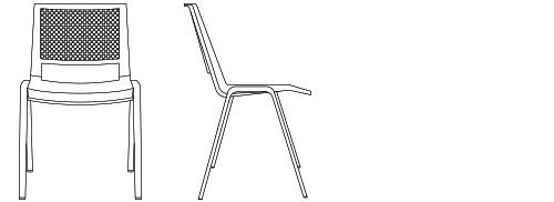 1870 - Armless Chair