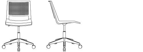 1870G - Swivel Height Adjustment Base, Armless