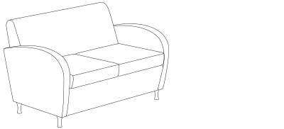9832 – Loveseat