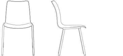 2885 – Four Leg Base, Armless