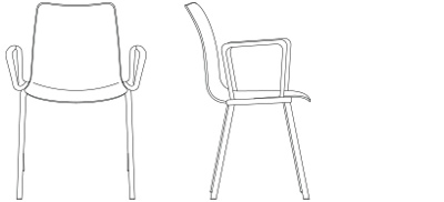 2886 – Four Leg Base, with Arms